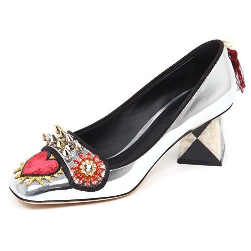 Woman Gabbana Scarpe Argento amp; Silver Dolce E6838 Donna Specchio Decollete Shoe B1RxZwCnqU