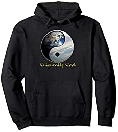 Planet Earth Yin Yang Pullover Hoodie