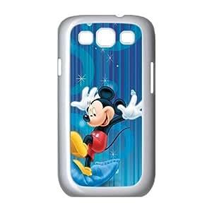 MICKEY MOUSE 007 galaxia S3 9300 funda teléfono celular de cubierta blanca, funda de plástico caja del teléfono celular