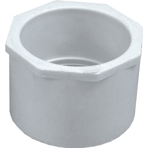 Genova Products 30292 PVC Reducing Bushing, 2-1/2 by 2