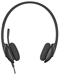 Logitech USB Headset H340 for Internet Calls and Music - Black
