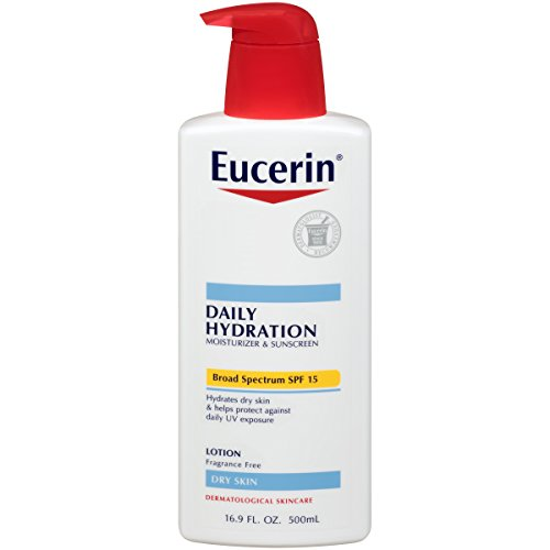 Eucerin Daily Hydration Broad Spectrum SPF 15 Body Lotion 16.9 Fluid Ounce (Pack of 3) Packaging may vary - Intensive Protection Spf 15 Moisturizer
