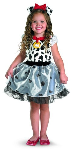 Disguise Costumes Disney 101 Dalmatians Classic Costume, White/Black, Toddler Medium (Dalmation Costumes 4t)