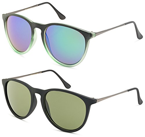 Matte Black and Green Gradient Frame/Green Mirror Lens and Matte Black Frame/Green - Popular Frames Most