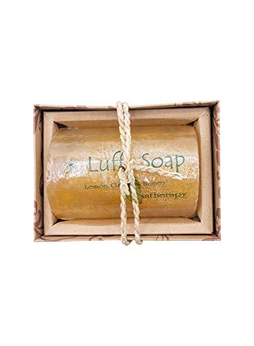 Saibua Luffa Scrub Lemongrass & Honey Body Soap Bar 100 g