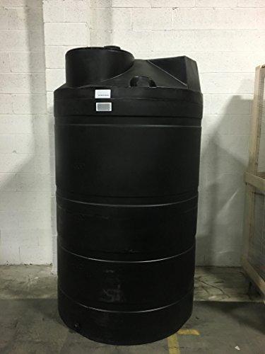 525 Gallon Black Rain Barrel Collection Tank for Rainwater Harvesting