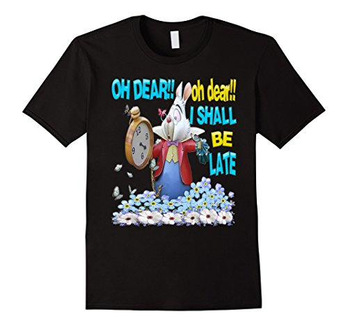 (White Rabbit-Men Women kids Alice in Wonderland T)