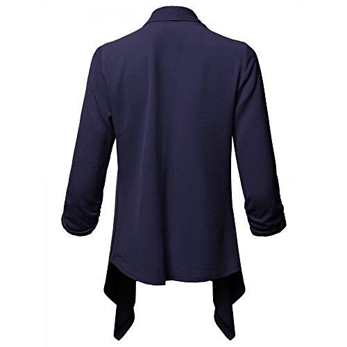 Casual Mode Automne Femmes ADESHOP Cardigan Pure Marine Slim Kimono Manteaux Veste Outwear Manteau Longues Couleur Chic Tops Blazer IrrGulier Blazer Femmes Manches Manches Longues wOHxwFn