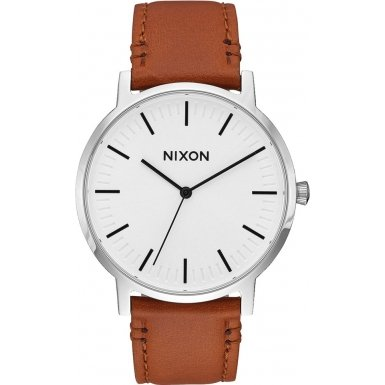 White-SunrayBrown-The-Porter-Leather-Watch-by-Nixon