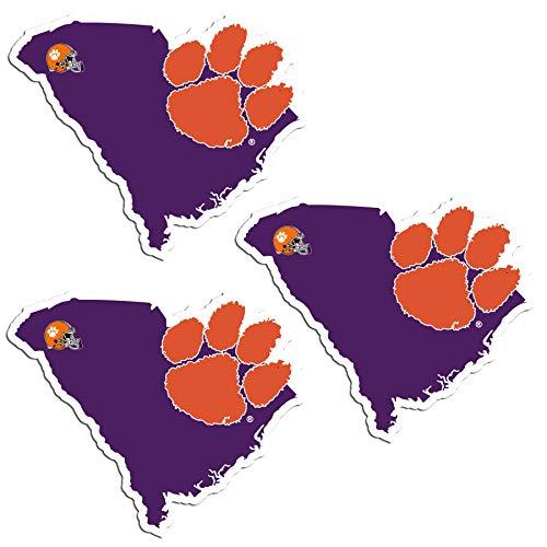 Siskiyou NCAA Clemson Tigers Home State Decal, 3pk