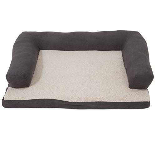 Aspen Pet Bolster Orthopedic Pet Bed for Joint Support – One Size – Assorted Colors Available