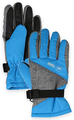 (Kids Winter Snow & Ski Gloves - Youth Gloves Designed for Skiing, Snowboarding, Shoveling - Waterproof, Windproof Thermal Shell & Synthetic Leather Palm - Fits Toddlers, Junior Boys and Girls)