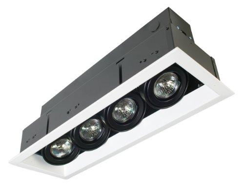 Eurofase TE114ATR-02 4-Light MR16 Recessed Mutiple Strip Trim with 0084B4 Transformer,White (Mr16 Strip Light)