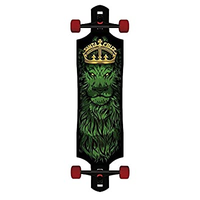Skateboard Longboard Rasta Lion God Drop Through Cruzer Tie Dye : Sports & Outdoors
