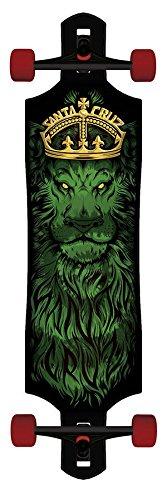 Longboard Rasta Lion God Drop Through Cruzer Skateboard Tie Dye