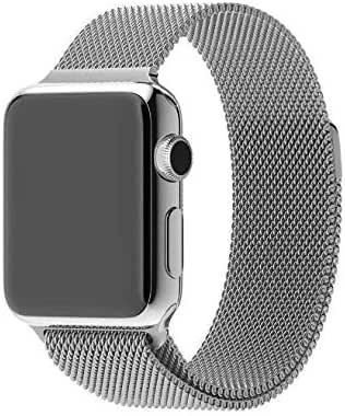 For Smart Watch Milanese Loop Band 44mm for Smart iwatch - Silver