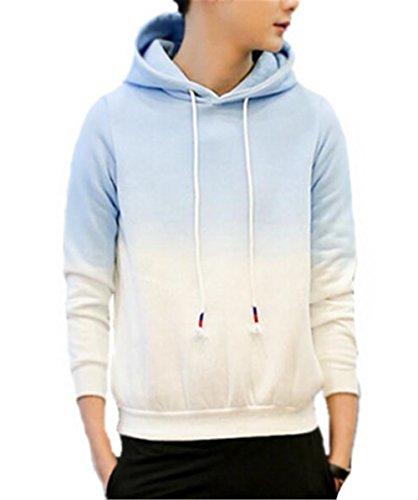 Blue Colore Hoodies La Sfumato Con Autunno Corda Cappuccio Elegante Moda Lunghe Sweatshirt Kerlana Donna Maniche Invernale Pullover Felpa Tira 8q74vxRwU