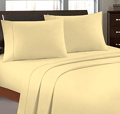 Bonne Nuit 300 Thread Count Hotel Collection Luxury Bedding Bed Sheets - Bestseller- Super Sale 100% Cotton Sateen - 17