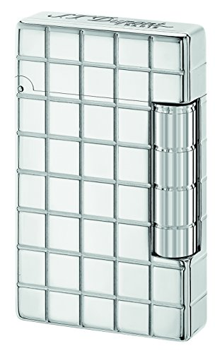 "S.T. Dupont ""Initial"" Square White Bronze Finish Flint Lighter 2017 / Grey 020800"