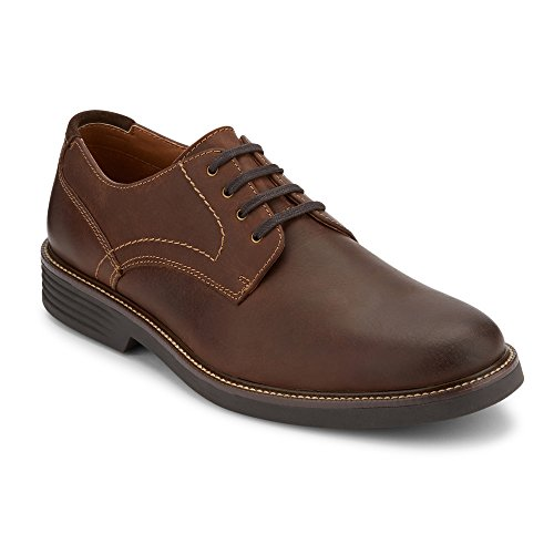 - Dockers Mens Parkway Leather Dress Casual Oxford Shoe with NeverWet, Dark Brown, 10.5 M
