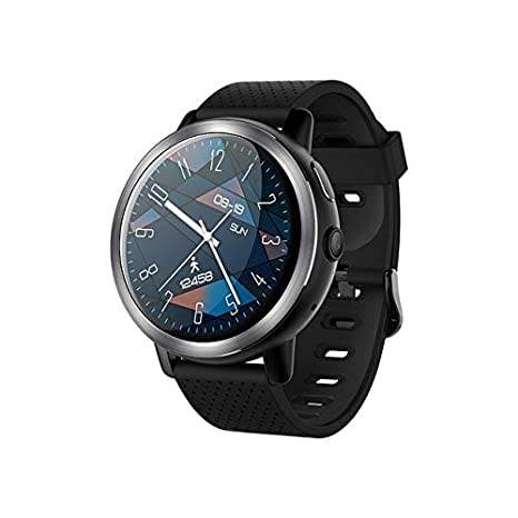 LEMFO LEM8 4G Smart Watch + Headphones as Gift (Gray Black)