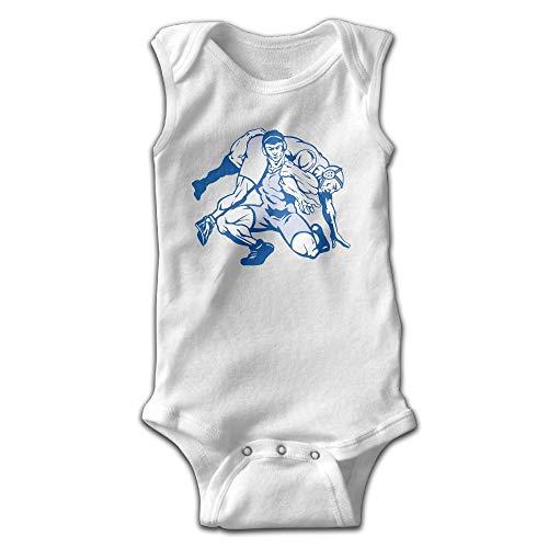 Addressverb Baby Sleeveless Bodysuits Wrestling Cute Lap Shoulder Onesies by Addressverb