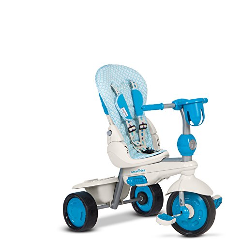 smarTrike Explorer 5 in 1 Baby Trike Light Weight 13.2 Pounds With Foot Rest Reclining Seat Quiet Ride Wheels Cup Holder Storage Bag and Padded Seat - Blue by smarTrike (Image #4)