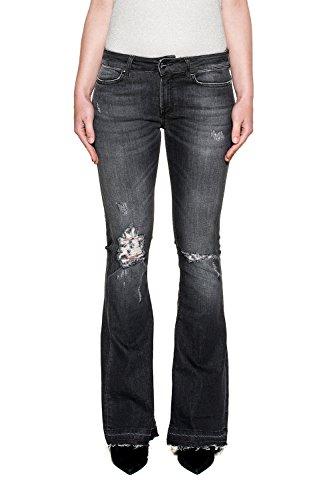 Gris Jeans Coton DP241DS168DR18N DONDUP Femme RwxqwIE