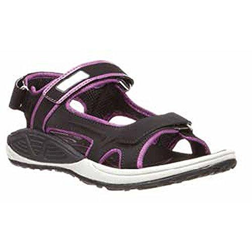 Cabo Sport Shoes (Xelero Cabo Women's Comfort Therapeutic Extra Depth Sandal Shoe: Black/Purple 6.0 Medium (B) Velcro)