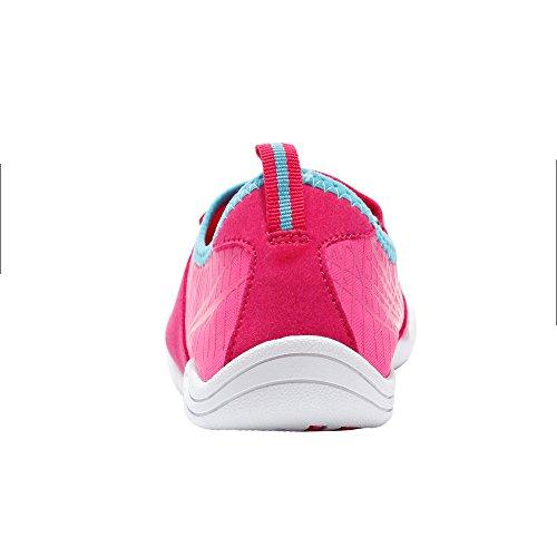 AMVonline Damen Strandschuhe Barfuß Schnell trocknend Aqua Water Sports Aqua Schuhe Rosa
