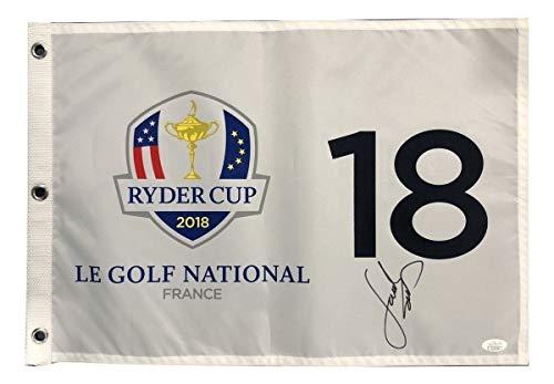 Jordan Spieth PGA Signed Autographed 2018 Ryder Cup Flag JSA