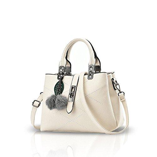 Handbags gris Gris Pochette Blanc amp;Doris Nicole pour femme Gris f5xXazawqS