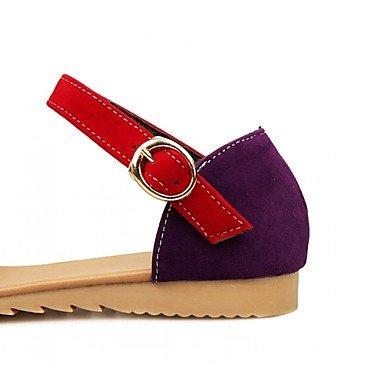Fiesta HebillaTacón Innovador Verano Trabajo Mujer Sintético Sandalias NVXZD PU Vestido y Noche y Patentado Cuero Paseo Otoño Oficina Rojo Confort t6wB8qU