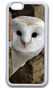 Cute owl animal Easter Thanksgiving Masterpiece Limited Design tpu white Case for iphone 6 by Cases & Mousepads
