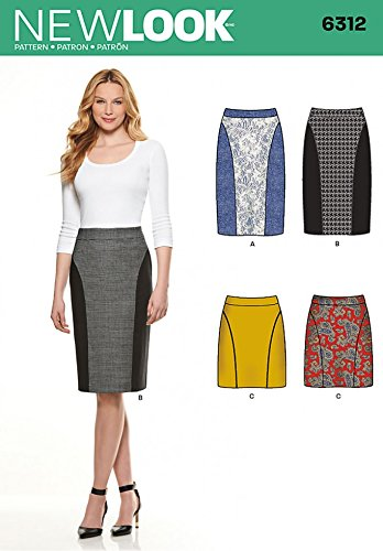 New Look Ladies Easy Sewing Pattern 6312 Pencil Skirts in 4 Styles   Amazon.co.uk  Kitchen   Home 18f8431e2