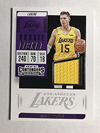 ff79faa6cf0 2018-19 Panini Contenders Rookie Ticket Swatches Basketball Moritz Wagner  Jersey Relic Los Angeles