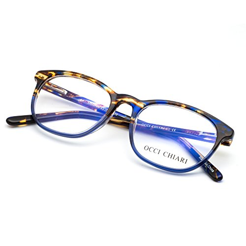 OCCI CHIARI Rectangle Stylish Eyewear Frame Non-prescription Eyeglasses With Clear Lenses Gifts for - Eyeglass Width