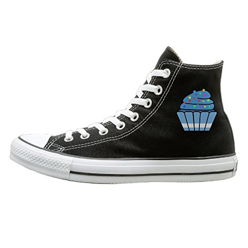 Hilo Canvas Shoes Cupcake Hi-Top Unisex Canvas Sneaker- Season Lace Ups Shoes Casual Trainers Men And Women 41