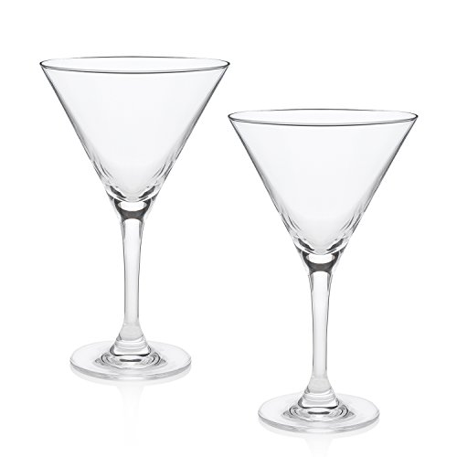 The World's Best Martini Glass (Duke's Bar Set of 2) by HISTORY COMPANY