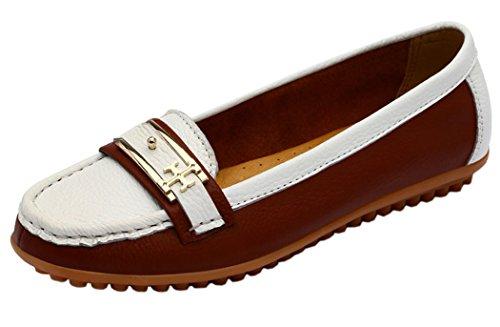 Guciheaven Women New Style Beautiful Cute Cowhide Moccasin Shoes(7 B(M)US, Tan)