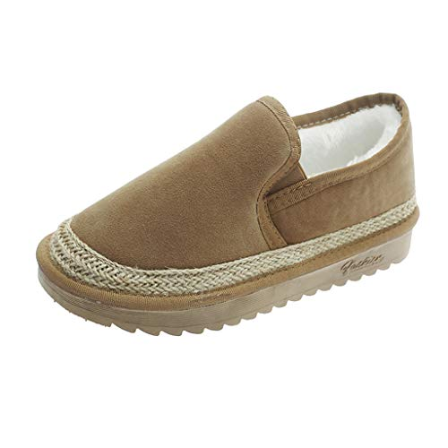 LONGDAY ⭐ Loafer Moccasins Slippers Slippers Casual Comfort Slip On | Lightweight Winter Flat with Fur or Travel Shoes Khaki