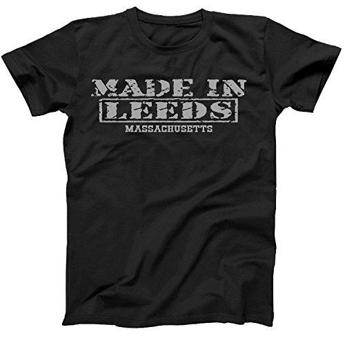 Retro Vintage Style Made in Massachusetts, Leeds Hometown Shirt Black