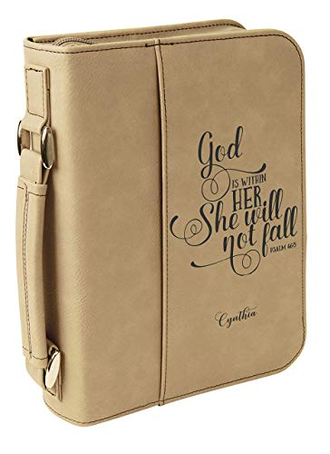 Zip Up Slipcover Personalzied Bible Case With Handle Christian Gift