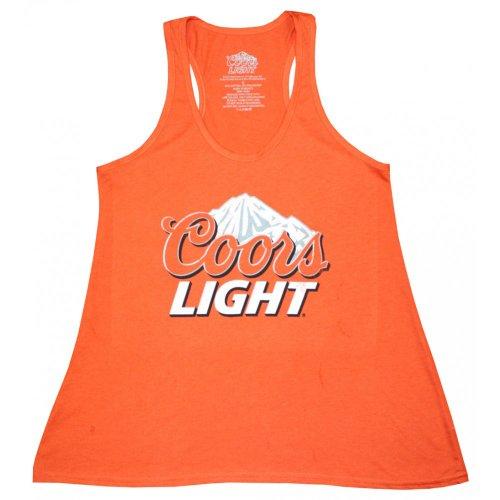 Coors Light Logo Juniors Red Tank Top L