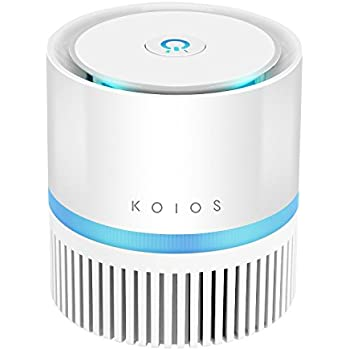 KOIOS Desktop Air Purifier with True HEPA Filter, Compact Air Cleaner for Rooms and Offices,Odor Allergen Allergies Eliminator,Home Air Fliltration with 2 Speeds,100% Ozone Free