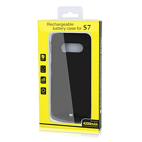 Galaxy S7 Battery scenario with the help of Kick stand up 4200mAh help enhance Charging extremely trim Rechargeable mobile External Backup Battery Charger scenario Protective Charging strength Cover Pack for Samsung Galaxy S7 Battery Charger Cases