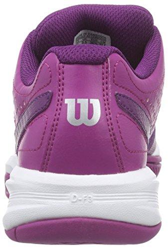Wilson RUSH OPEN 2.0 W, Damen Tennisschuhe, Mehrfarbig (AZALEE PINK/DARK PLUMBERRY/WHITE), 41 EU (7 Damen UK)