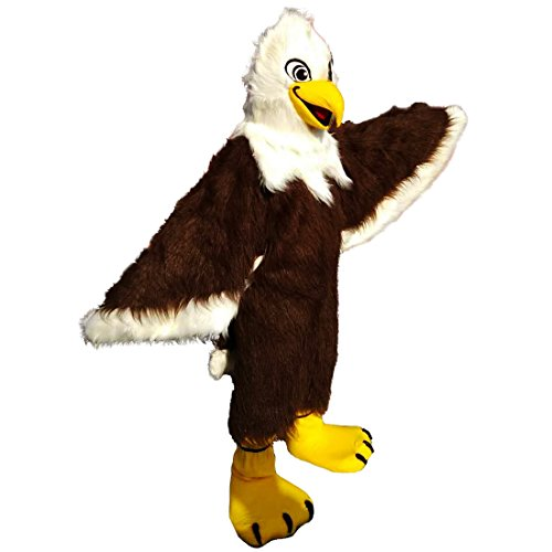 Brown Eagle Bear Mascot Costume Long Hair Langteng (TM) ()
