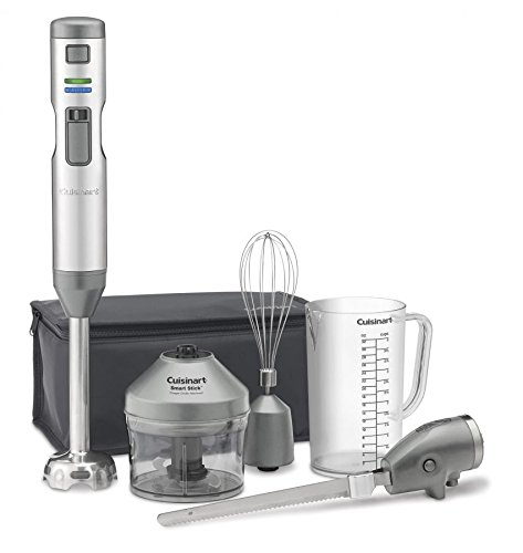 Cuisinart CSB-300 Rechargeable Hand Blender with Electric Knife, One Size, Stainless Steel by Cuisinart