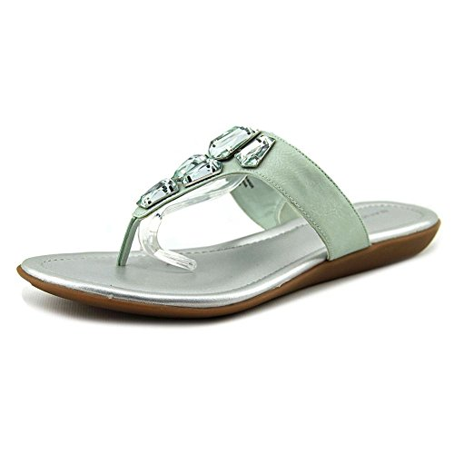 Bandolino Women's Jesane Synthetic Flip Flop, Light Green, 8.5 M US